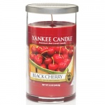 Yankee Candle Glass Pillar 340gramm Black Cherry