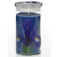 Yankee Candle Full Bloom Glass Pillar Blue Iris Medium 340gramm