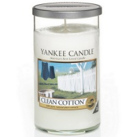 Yankee Candle Glass Pillar 340gramm Clean Cotton