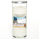 Yankee Candle Glass Pillar Clean Cotton 566gramm