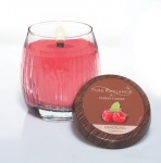Raspberry medium Vase Crackling Lumiwick Yankee Candle