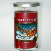 Yankee Candle Glass Pillar 340gramm Christmas Eve