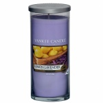 Yankee Candle Glass Pillar Lemon Lavender 566gramm