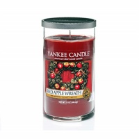 Yankee Candle Glass Pillar 340gramm Red Apple Wreath