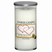 Yankee Candle Glass Pillar 340gramm Snow in Love