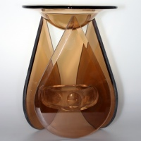 Duftlampe Teardrop Glass braun Tart Warmer Yankee Candle