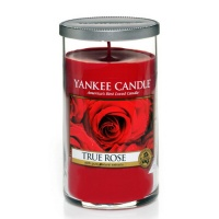 Yankee Candle Glass Pillar 340gramm True Rose